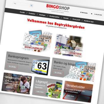 Ny hjemmeside og webshop